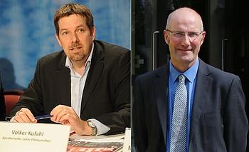 Der künstlerische Leiter des FILMKUNSTFESTs MV, Volker Kufahl (links) und Dr. Ait Stapelfeld, Geschäftsführer LOTTO MV