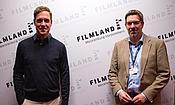 Felix Bruder (AG Kino) und der künstlerische Leiter des FILMKUNSTFESTs MV© Jörn Manzke / FILMLAND MV