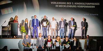 Die Gewinner des 3. Kinokulturpreises in MV - gewerbliche Spielstätten © Jörn Manzke / FILMLAND MV