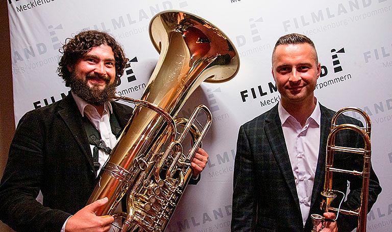 Originelle Variationen von Filmmusik vom Niederfrequenz-Duo © Jörn Manzke / FILMLAND MV