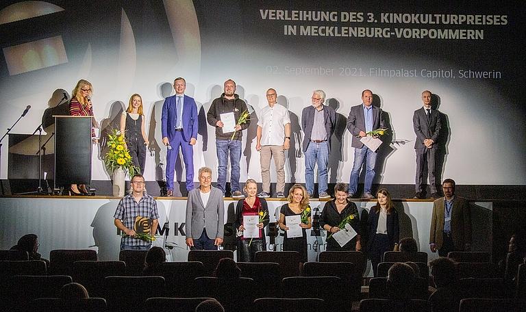 Die Gewinner des 3. Kinokulturpreises in MV - gewerbliche Kinos © Jörn Manzke / FILMLAND MV