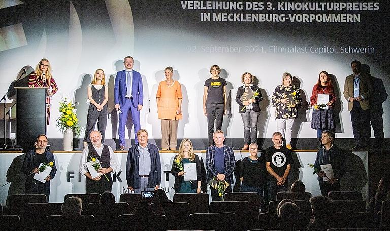 Die Gewinner des 3. Kinokulturpreises in MV - nicht-gewerbliche Kinos © Jörn Manzke / FILMLAND MV